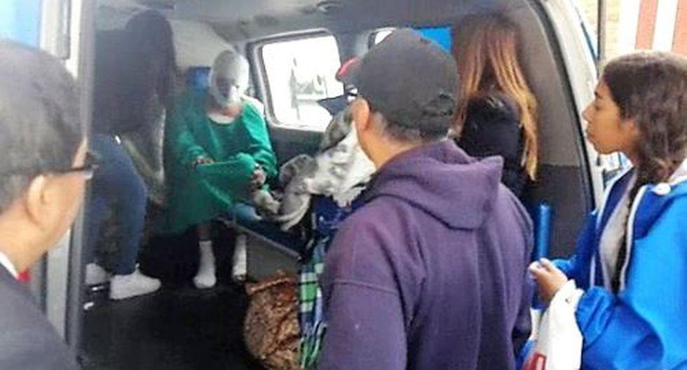 Huancayo: policía sufre graves quemaduras durante incineración de pirotécnicos. (Foto: Andina)