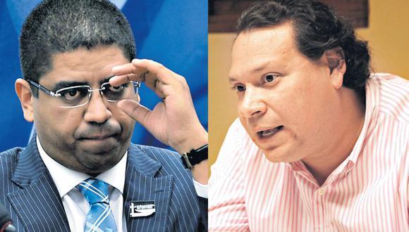 El brasileño Leonardo Meirelles (izq.) sindicó al empresario Gary Luty Dávila (derecha) como el destinatario de las transferencias bancarias para el pago de coimas en el Perú. (Twitter / Junio Miani)
