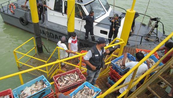 Tumbes: Produce intervino ocho embarcaciones por pesca ilegal