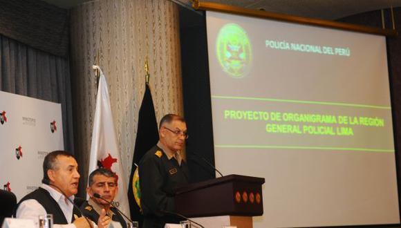Policía Nacional de Lima Provincias tendrá un comando único