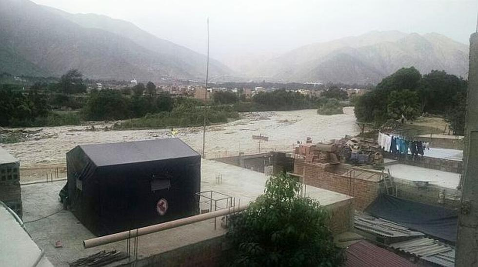 Vecinos de Chaclacayo temen inminente desborde del río Rímac - 1
