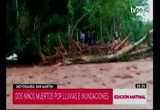 San Martín: dos niños muertos y tres desaparecidos por fuertes lluvias