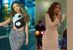 Mayra Goñi es captada cantando en restaurante de Miami