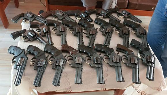 Durante operativos de fiscalización en Arequipa, Cajamarca y Amazonas, entre el último 10 y el 19 de marzo, se logró decomisar las armas de fuego. (Foto: Sucamec)