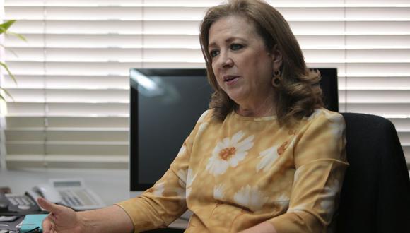 """""""Los aumentos de las remuneraciones no se dan por ley"""", dijo María Isabel León. (Foto: Giuliano Buiklece / GEC)"""