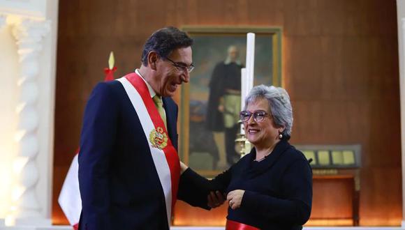 La secretaria del Despacho Presidencial, Miriam Morales, también deberá testificar sobre las visitas de Richard Cisneros a Palacio de Gobierno en en el 2018. (Foto: Presidencia)