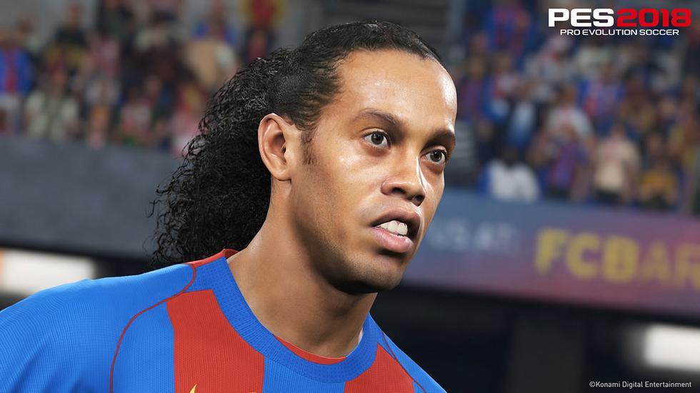Ronaldinho es una de las figuras de PES 2019. (Foto: Konami)