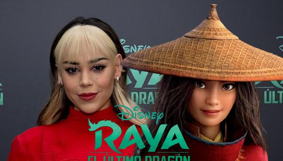 Danna Paola vuelve a hacer doblaje después de varios años para prestarle su voz a la protagonista de 'Raya y el Último Dragón', la nueva película de Walt Disney Animation Studios. | Crédito: Disney / Composición.