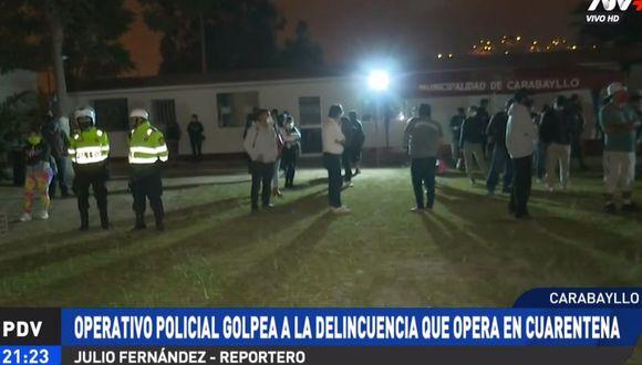 Los intervenidos fueron llevados al estadio municipal de Carabayllo. (ATV+)