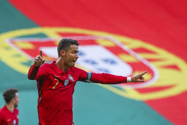 With Cristiano Ronaldo's goal, Portugal beat Israel in a FIFA international friendly