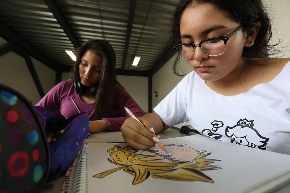 Se seguirá dictándose el novedoso taller de dibujo manga, uno de los más exitosos durante el verano. (Fotos: Difusión)
