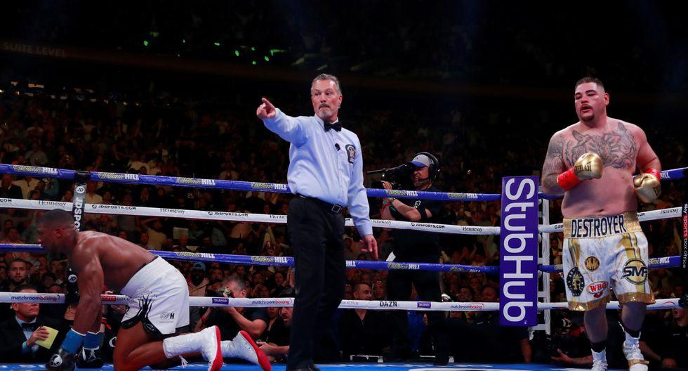 Mexicano Andy Ruiz Jr. venció a Anthony Joshua y se convirtió en campeón mundial de peso completo. | Foto: Reuters