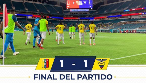 Ecuador igualó 1-1 frente a Venezuela en amistoso internacional FIFA disputado en Miami. | Foto: Ecuador