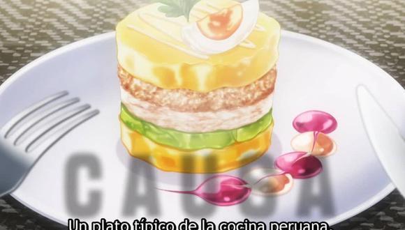 Causa rellena acapara protagonismo en anime Shokugeki no Soma. | Foto: Captura