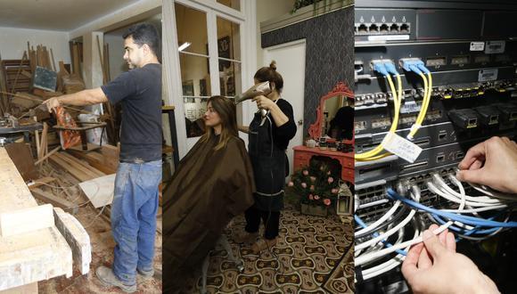 Servicios de tecnología, carpintería y peluquería podrán reanudarse desde junio. (Composición: GEC)
