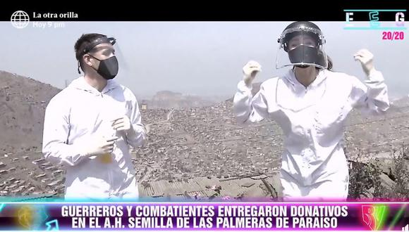 """""""Esto es Guerra"""" entregó segundo camión de víveres. (Foto: @EstoesGuerraPerú)"""