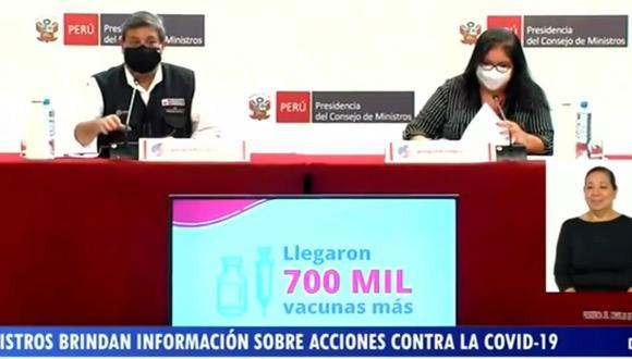Integrantes del Gabinete se dirigieron a la ciudadanía para brindar alcances respecto a la evaluación de las medidas adoptadas durante el estado de emergencia por la pandemia del coronavirus. (Foto: PCM)