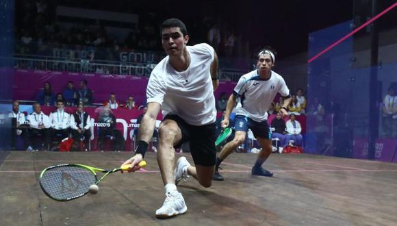 El peruano Diego Elías ganó en squash y avanzó a cuartos de final. (Foto: Daniel Apuy / GEC)