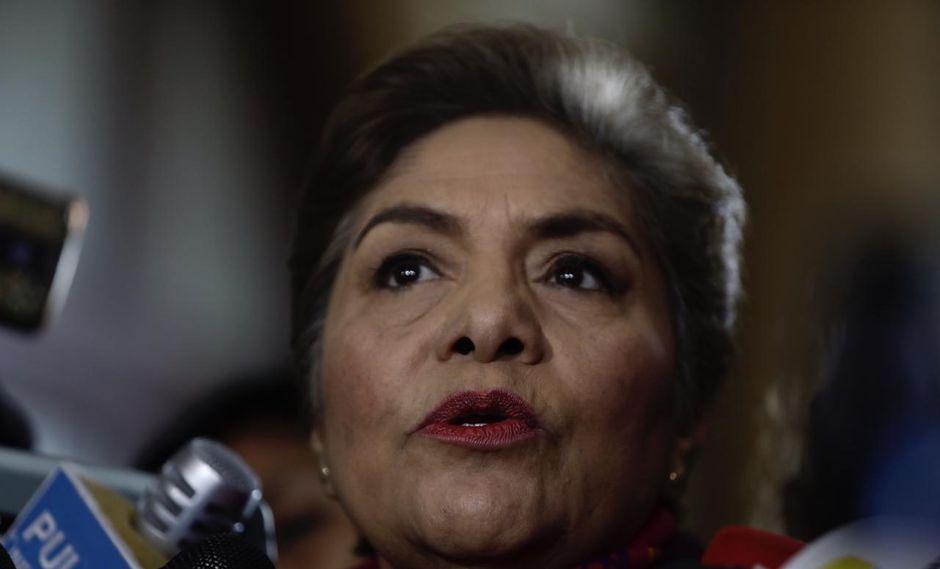 Luz Salgado evitó pronunciarse sobre la veracidad de los chats e indicó que deberá ser un fiscal el que la determine. (Foto: GEC)