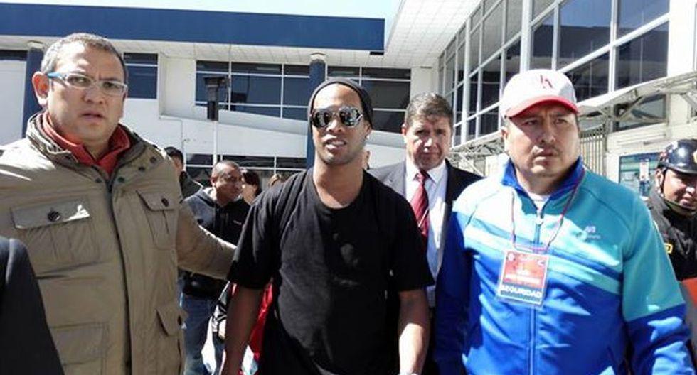 Ronaldinho llegó a Cusco en medio de gran expectativa [FOTOS] - 2