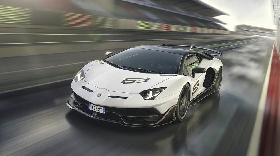 Lamborghini también presentó una serie limitada denominada Aventador SVJ 63, del cual solo se crearán 63 unidades. (Foto: Lamborghini).