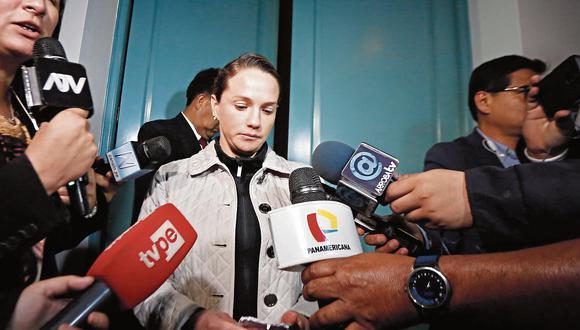 Hace dos días, fiscalía dirigió allanamiento al domicilio de Luciana León (Foto: GEC)