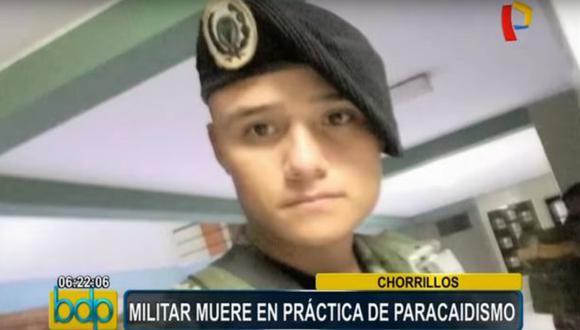 Chorrillos: soldado murió durante práctica de caída libre