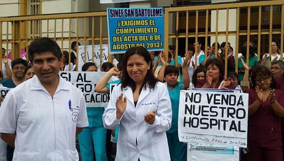 Huelga médica en hospitales del Minsa podría retomarse este 8 de enero