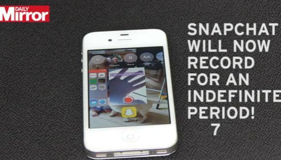 Snapchat: truco permite extender límite de grabación de videos