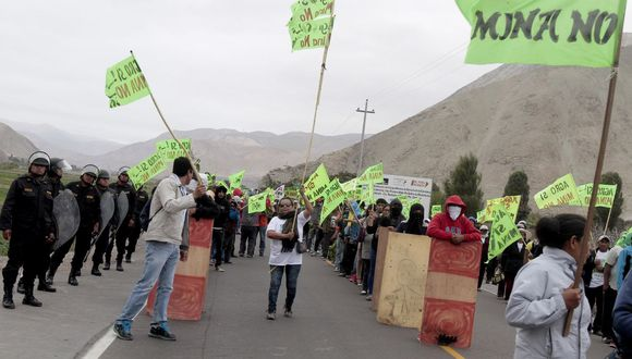 En el Valle de Tambo persiste la resistencia ante la inminente construcción del proyecto minero. (Foto: Archivo El Comercio)