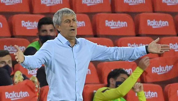 Quique Setién no se siente señalado por las declaraciones de Lionel Messi. (Foto: AFP)