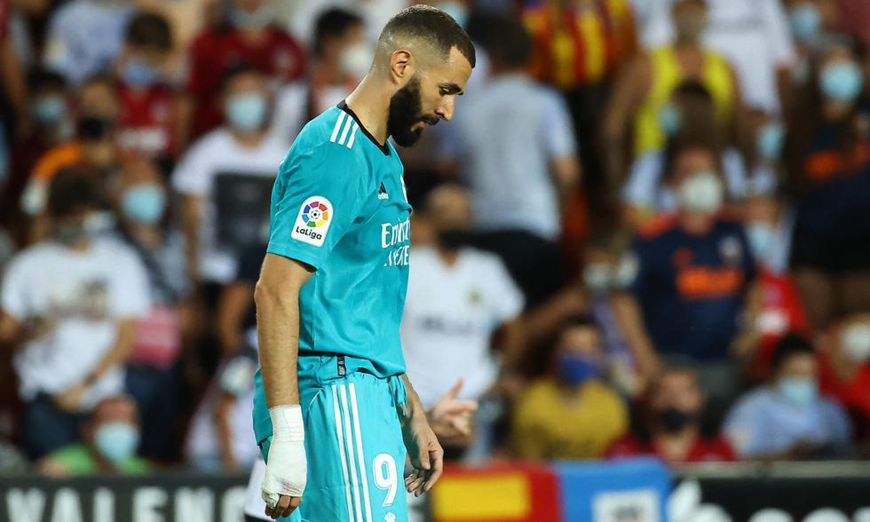 Real Madrid y Valencia chocaron en el Mestalla por la jornada 5 de LaLiga Santander. | Foto: AFP