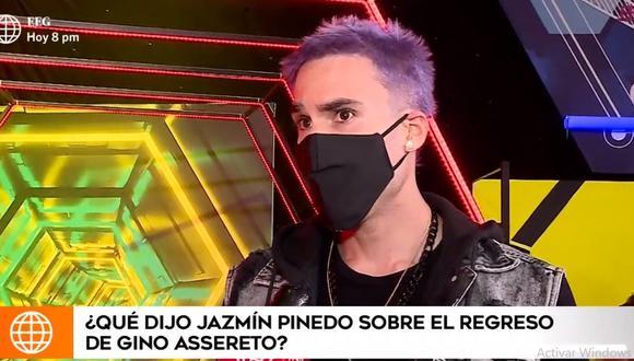 """Gino Assereto tras reencontrarse en TV con Jazmín Pinedo: """"Nunca he dejado de estar bien""""  (Video: captura de video de América Televisión)"""