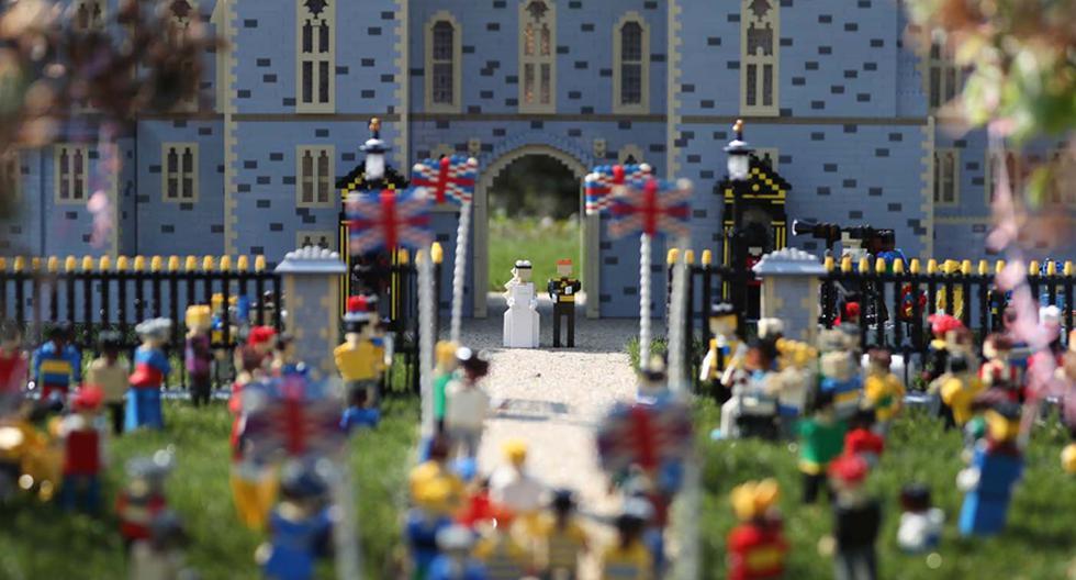 Lego decidió recrear la boda real del príncipe Harry y Meghan Markle. Se utilizaron más de 60 mil piezas. (Foto: AFP)