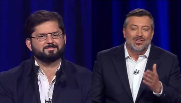 El izquierdista Gabriel Boric (izquierda) y el derechista Sebastián Sichel se enfrentarán en las elecciones presidenciales de Chile el próximo 21 de noviembre. (Captura de video).
