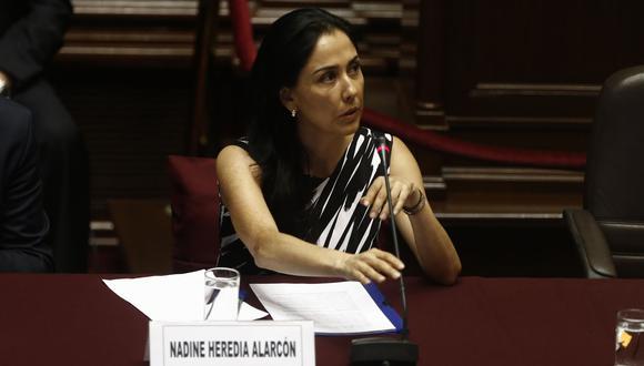 Nadine Heredia estuvo en prisión preventiva anteriormente, junto a Ollanta Humala, por otra investigación referente al presunto delito de lavado de activos. Una sentencia del TC permitió la libertad de ambos. (Foto: GEC)