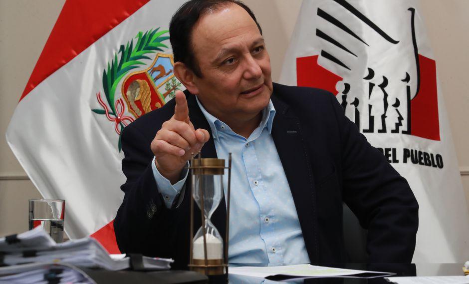 Defensor del Pueblo informó que se reunió con el presidente Martín Vizcarra y con el titular de la Comisión Permanente, Pedro Olaechea (FOTO: Lino Chipana/GEC)