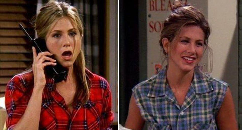 Cuadros por todas partes: y de todas las formas y tamaños. Este fue uno de los estampados favoritos de Rachel Green en la serie Friends. (Foto: Difusión)