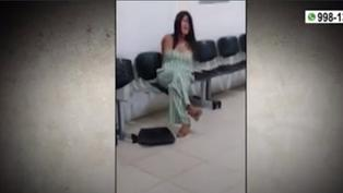 Mujer intervenida por chocar su auto protagonizó un escándalo en una comisaría de Piura