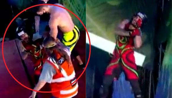 "Mario Irivarren se lesiona a puertas de la semifinal de ""Esto es guerra"". (Foto: Captura América TV)."