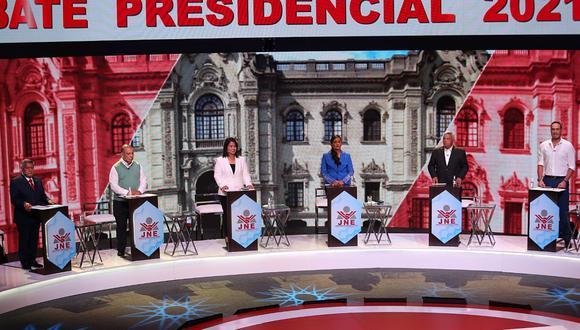 Seis candidatos a la Presidencia de la República debatieron este lunes desde las 6 p.m.  (Foto: JNE)