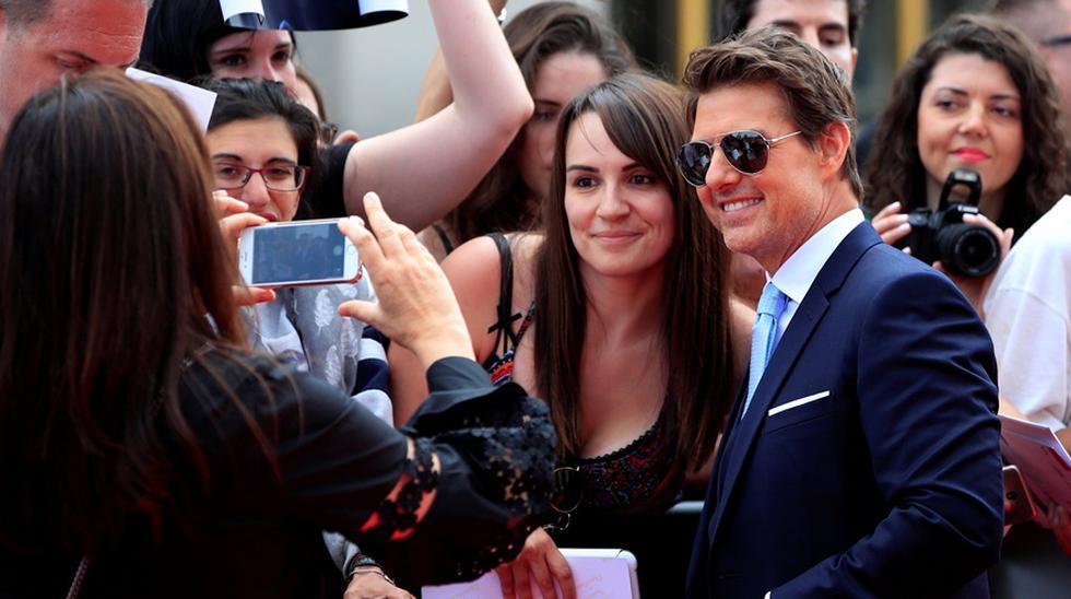 """Tom Cruise presentando """"Misión imposible 6"""" en París. (Foto: Reuters)"""