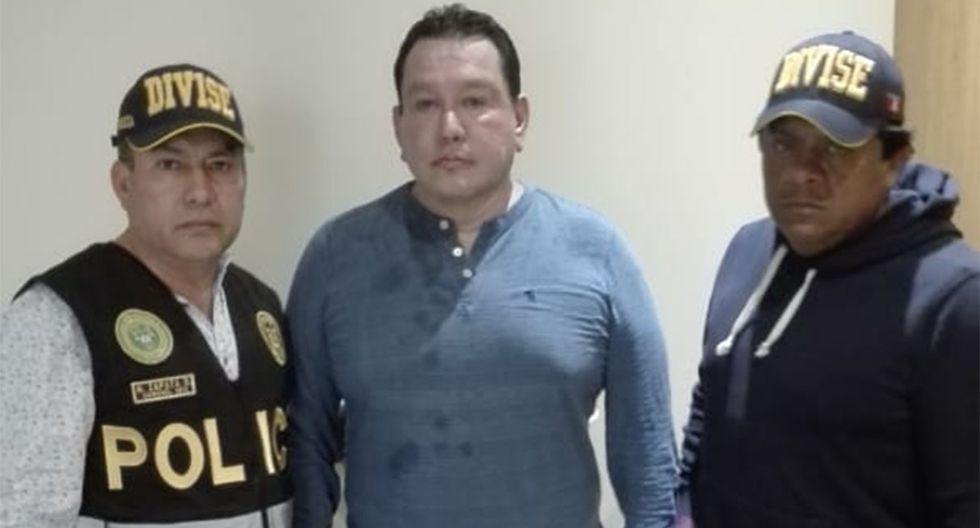 Félix Moreno al momento de su detención en una vivienda de Cieneguilla. (Foto: PNP)