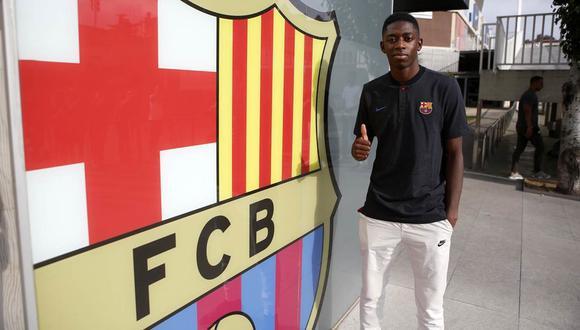 Ousmane Dembélé llegó cerca del mediodía al aeropuerto Barcelona-El Prat e inmediatamente se dirigió hacia las instalaciones del cuadro culé. (Foto: FC Barcelona)