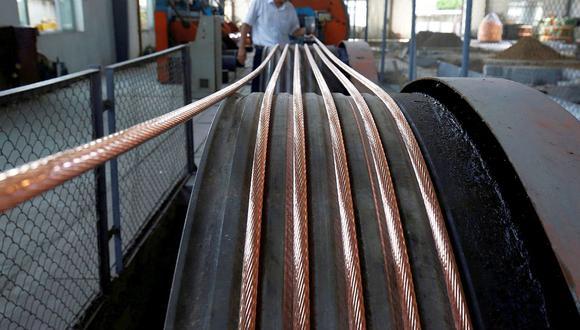 El cobre a tres meses en la LME sumaba un 0,7%. (Foto: Reuters)