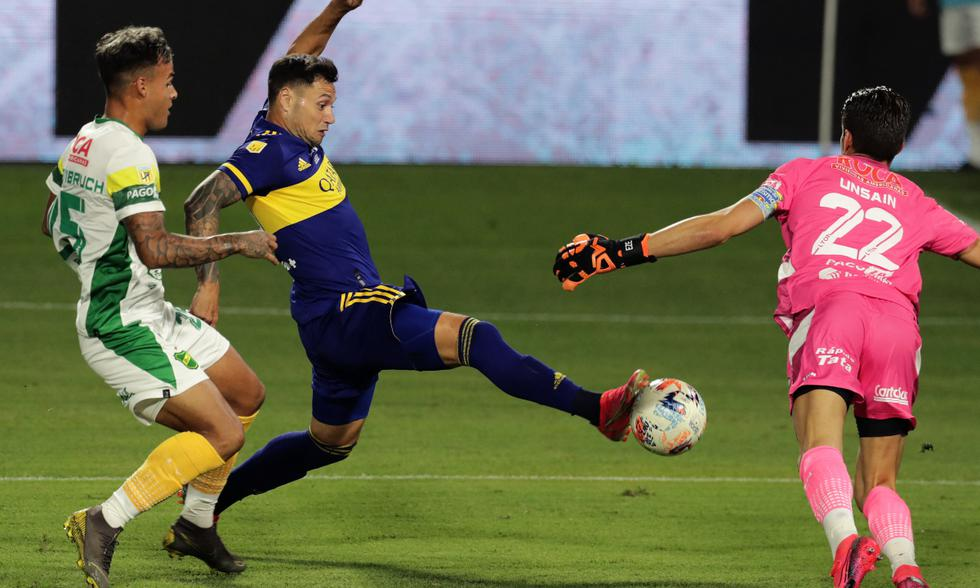 Boca vence a Defensa y Justicia en la Bombonera gracias a un gol de Zárate | Foto: AFP