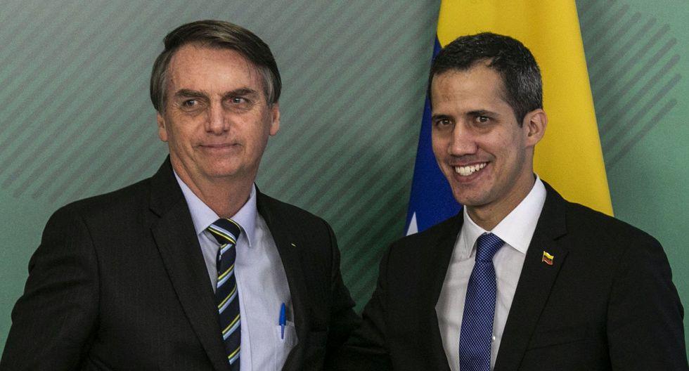 """Jair Bolsonaro afirmó, al recibir a Juan Guaidó, que su Gobierno no cejará en la búsqueda de """"lo que los venezolanos desean: democracia y libertad"""". (AFP)."""