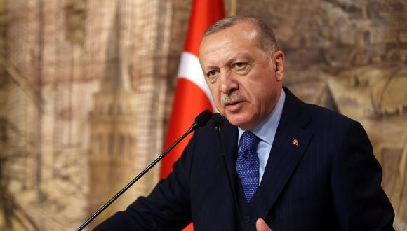 El presidente de Turquía Tayyip Erdogan habla sobre la situación en Siria. (Reuters).