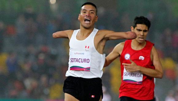 Efraín Sotacuro en maratón de los Juegos Paralímpicos Tokio 2020. [Foto: Lima 2019]