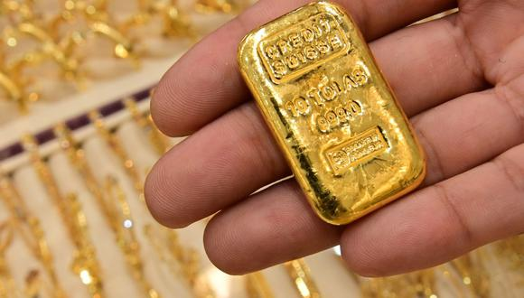 Los futuros del oro en Estados Unidos bajaban 0.3% a US$ 1,941.50 por onza. (Foto: AFP)
